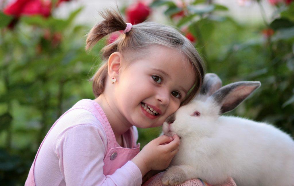 Klein meisje met konijn, foto van Pexels.com