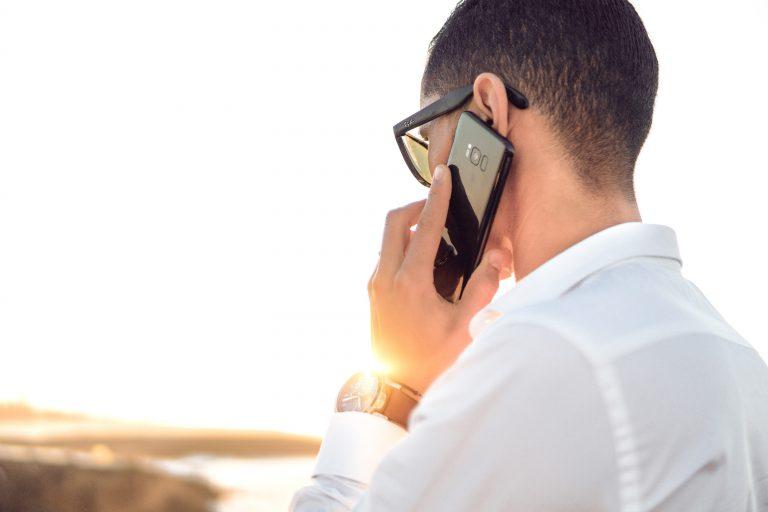 Man on phone